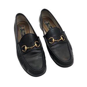 Vintage black Gucci loafers